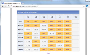 Room Booking System for Schools and Colleges